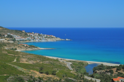 View of Armenistis - Ikaria Island - Greece - October 2012