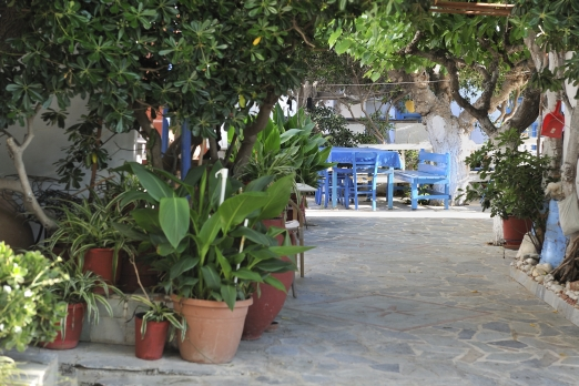 Small court in Armenistis - Ikaria Island - Greece - May 2012