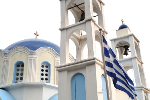 Church in Plaghia - Ikaria Island - Greece - October 2012