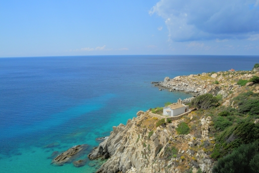 Chapel Panagitsa near Karkinagri - Ikaria Island - Greece - October 2012