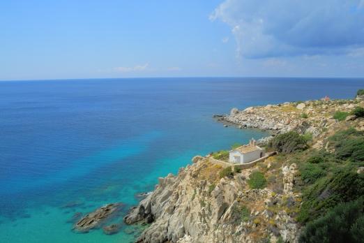 Chapel Panagitsa near Karkinagri - Ikaria Island - Greece - October 2012
