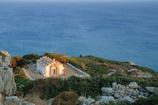 The chapel of Aghios Georghios near Drakano Fortress - Ikaria Island - Greece - May 2012