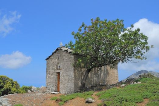 Chapel of Christos in the heart of Ranti Forest - Ikaria Island - Greece - May 2012