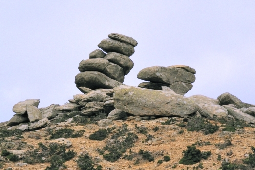 Fascinating stone landscape - central mountain chain - Ikaria Island - Greece - May 2012