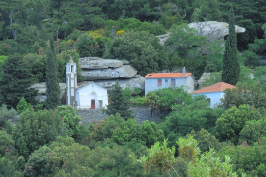 Moni Theoktistis monastery near Pighi village - Ikaria Island - Greece - May 2011