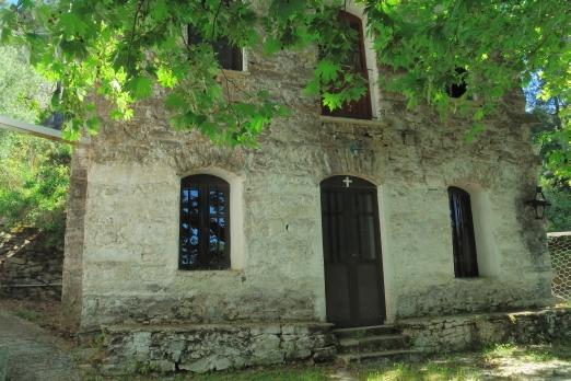 Mounte monastery - courtyard - Ikaria Island - Greece - May 2011