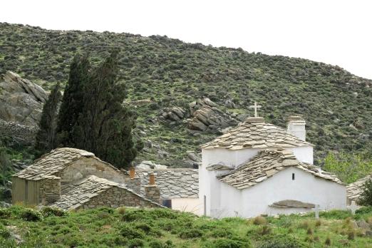 Evangelistrias monastery near Mavrianou - Ikaria Island - Greece - May 2011