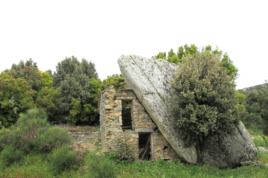 Old traditional ikarian stone house near Vrakades - Ikaria Island - Greece - May 2011