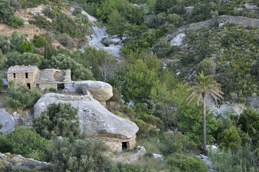 Old traditional ikarian stone house near Mavrianou - Ikaria Island - Greece - May 2011