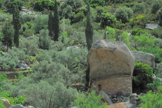 Old traditional ikarian stone house near Kalamos - Ikaria Island - Greece - May 2011