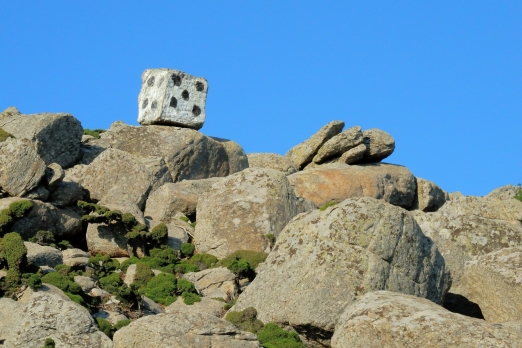 Stone cube between Kalamos and Lagada - Ikaria Island - Greece - May 2012