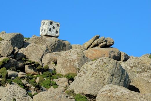 Stone cube between Kalamos and Lagada - Ikaria Island - Greece - May 2012
