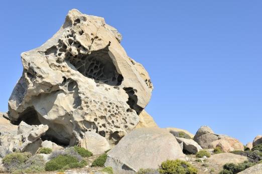 Facinating natural stone landscape near Kalamos - Ikaria Island - Greece - May 2012