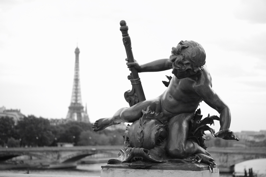 Detail of a nymph from Pont Alexandre III - Paris - July 2011