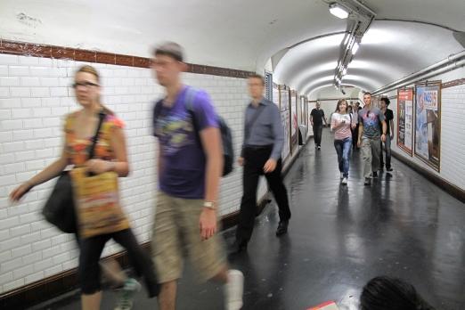 Impression of an underground station - Paris - July 2011