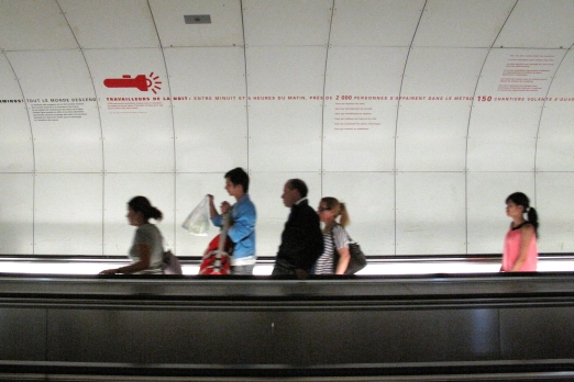 Impression of an underground station - Paris - July 2011