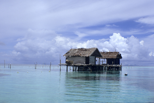 Fishing huts - Raja Ampat Archipelago - West Papua - Indonesia 2008