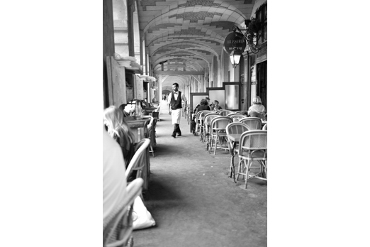 Brasserie in the arcade of Place des Vosges - Paris - July 2011