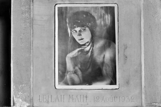 Columbarium of Leilah Mahi - Pere Lachaise - Paris - July 2011