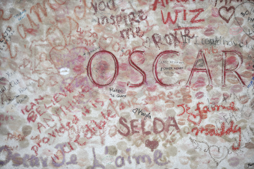 Grave of Oscar Wilde - Pere Lachaise - Paris - July 2011