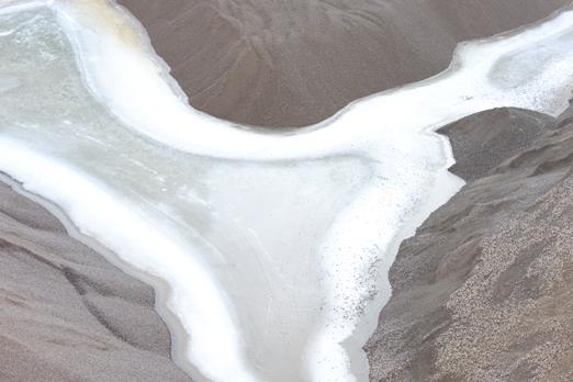 "Detail of the frozen lake in the granite stone pit ""Auf der Moret"" Dieburg - Germany 2009"