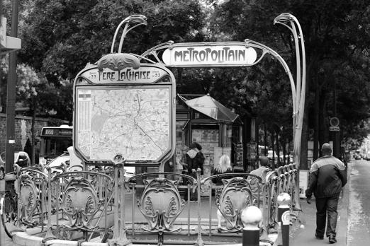 Underground statation Pere Lachaise - Paris - July 2011
