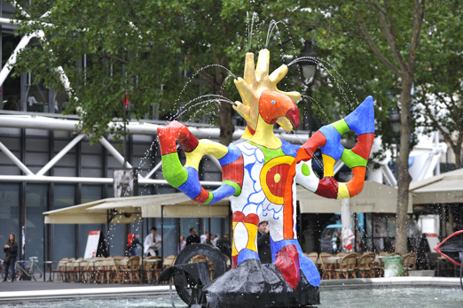 The Stravinsky Fountain (from Jean Tinguely + Niki de Saint Phalle) - Paris - July 2011