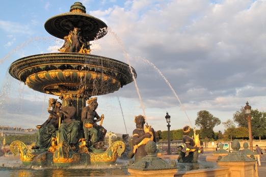The fountain of river commerce+navigation - Place de la Concorde - Paris - July 2011