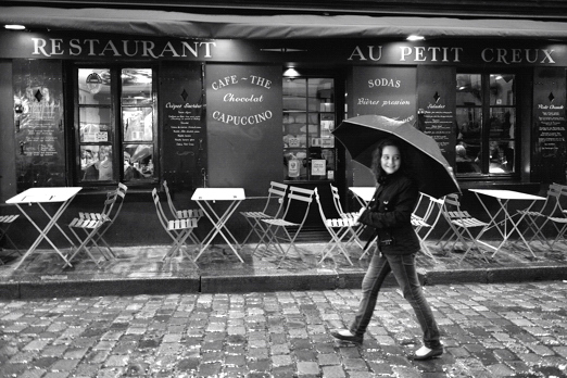 Rainy impression - the quarter of Montmartre - Paris - July 2011