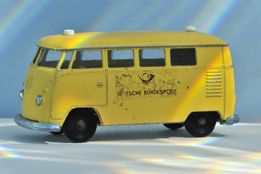 Underwater photo of a VW-Bus model - Muehltalbad - Darmstadt - Germany - 2009
