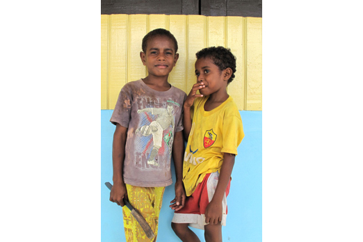 Two children from Mambor - Cenderawasih Bay - West-Papua - Indonesia 2011