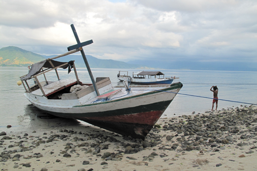 Fishing boat in a small village - Pantar - Alor-Archipelago - Indonesia 2010