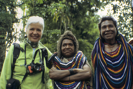 Margarete and native woman of the Huli tribe - Southern Highlands Province - PNG 2006