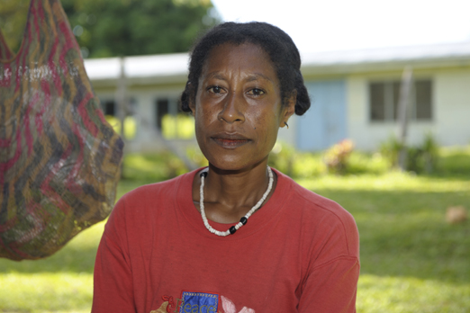 Portrait of a woman at Tufi market - Oro Province - PNG 2009